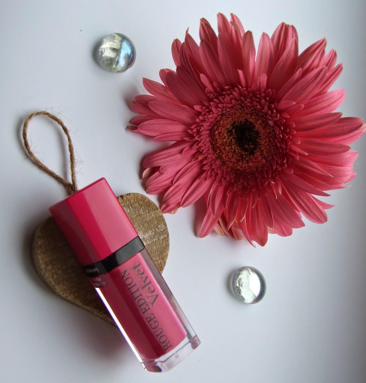 Bourjois Rouge Edition Velvet 06 Pink Pong lipstick stain matte