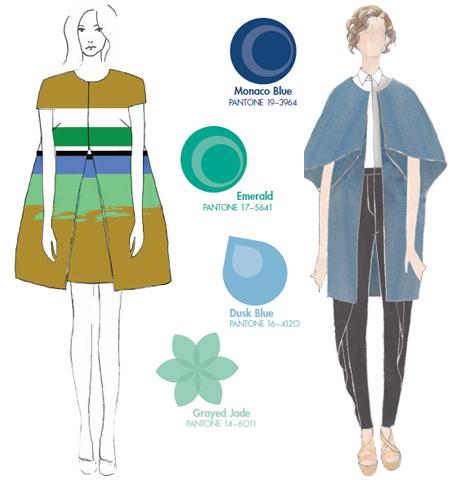 Модерни цветови комбинации 2013 синьо и зелено