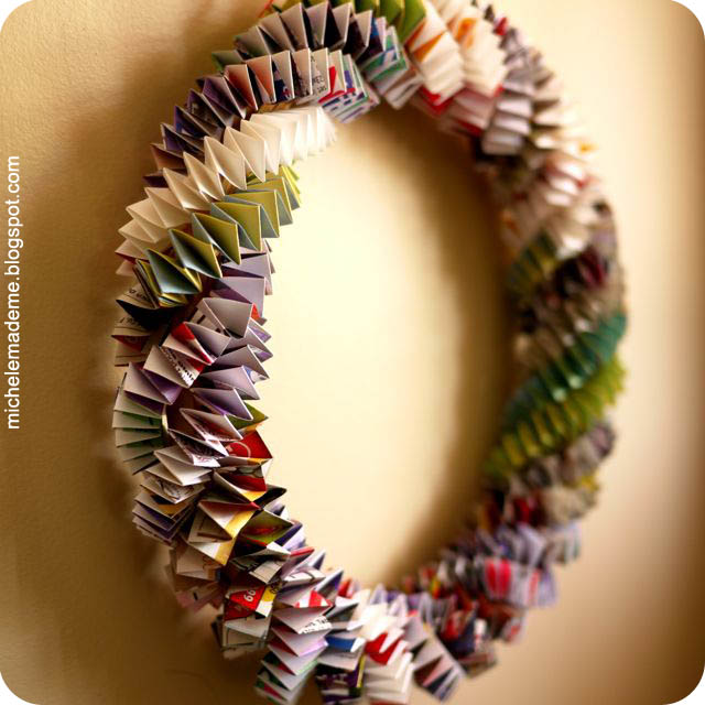 michele made me: Series 6: The Box Chain #5 - Paper Wreath