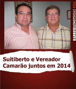 SUITIBERTO RIOS JUNTO COM VEREADOR CAMARÃO