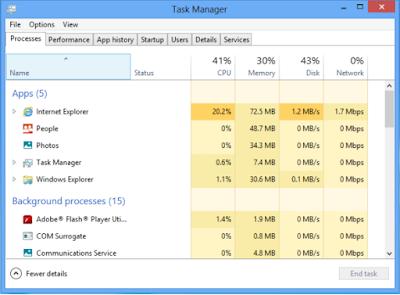 Meningkatkan kecepatan windows 8