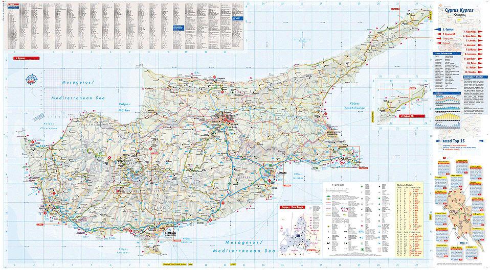 Uns. Virgin Islands Karten