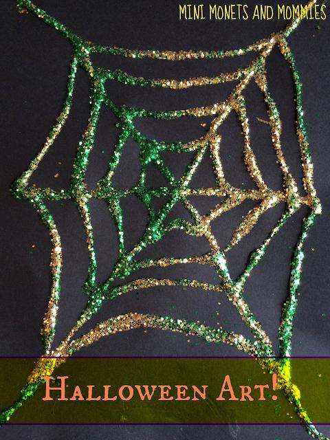 Glitter webs