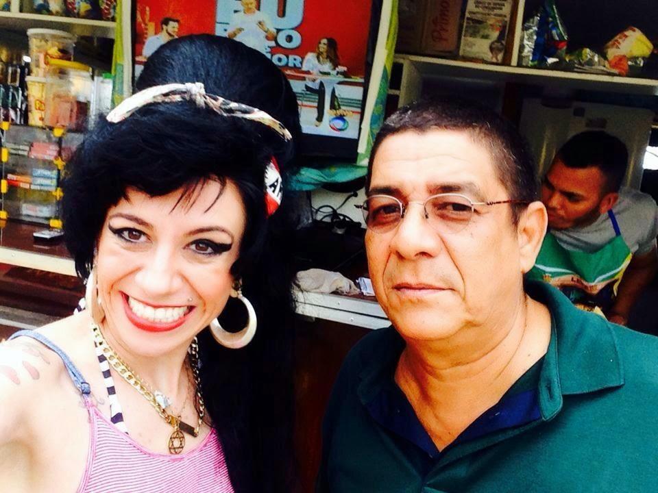 Zeca Pagodinho e Sósia Amy Winehouse