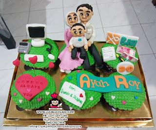 Cupcake Keluarga Tema Banker BNI