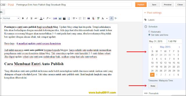 Pentingnya Entri Auto Publish Bagi Sesebuah Blog