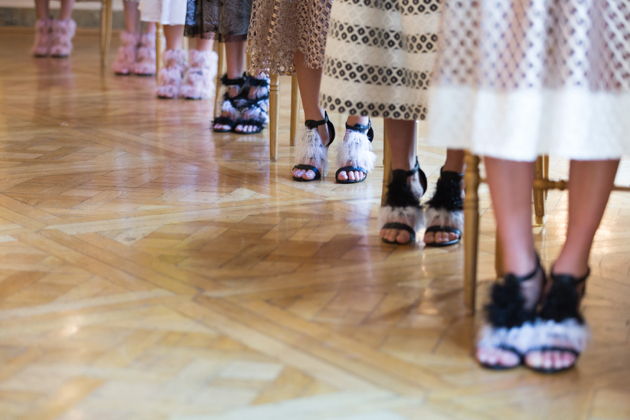 line-up of shoes with fringe and whimsy, natargeorgiou spring 2016