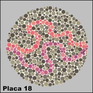 Teste de Ishihara - Placa número 18