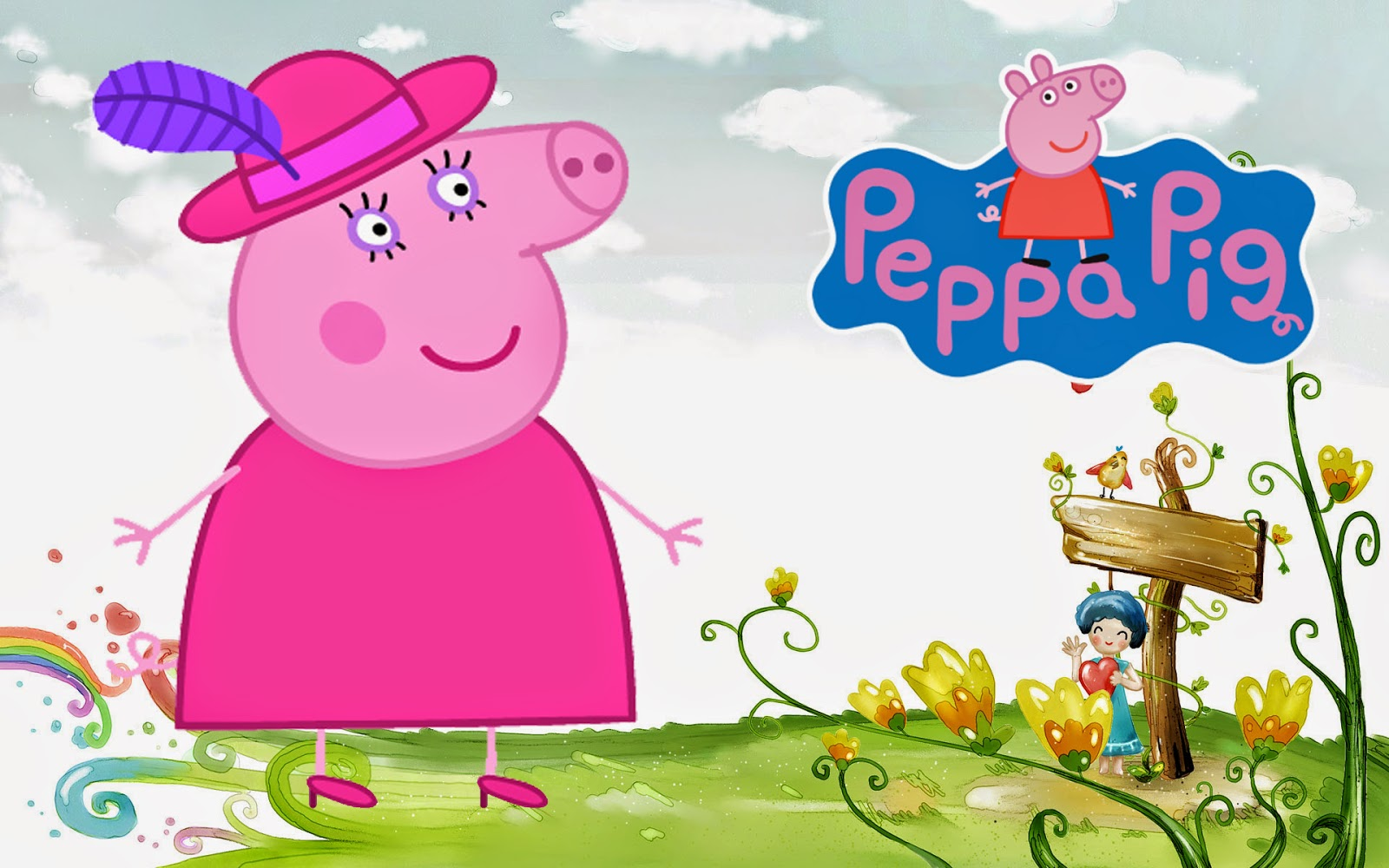 Mummy Peppa Pig On The Farm HQ Wallpaper Download Free