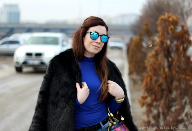 www.nilgunozenaydin.com-moda blogları-moda blogu-fashion blogger-kürk ceket-siyah kürk