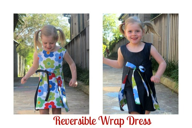reversible wrap dress sewing tutorial