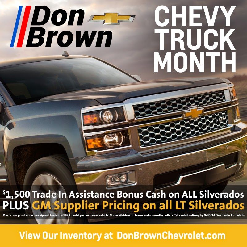 Chevy Truck Month at Don Brown Chevrolet