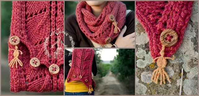Sciarpa creata da ArJànas color ruggine fatta a mano