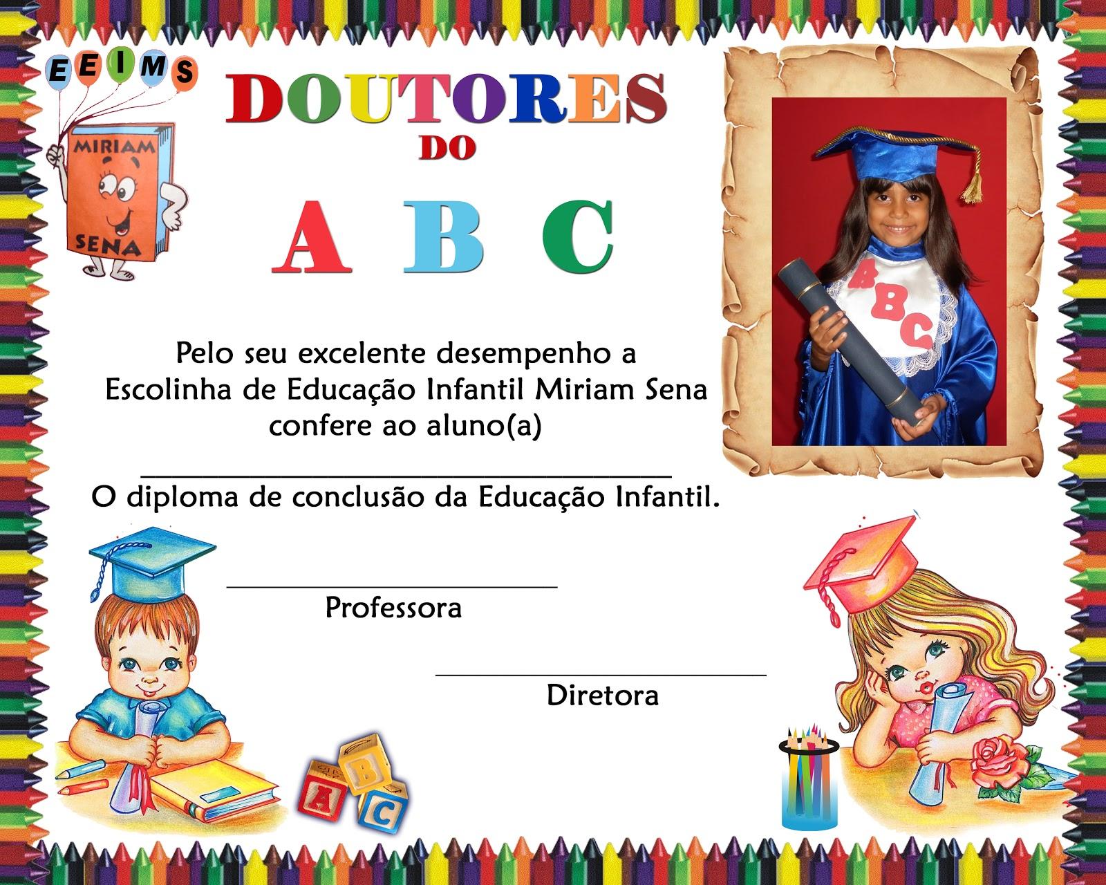 moldura para convite de formatura infantil