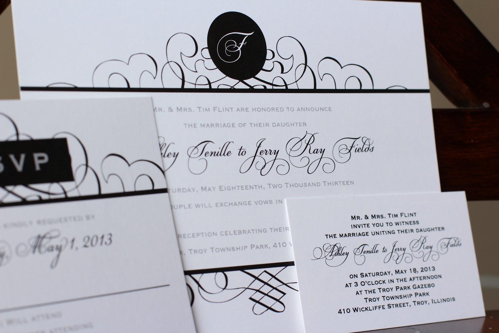 Perfect Elegant Black And White Wedding Invitations Vignette ...