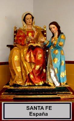 Virgen María y su madre Ana