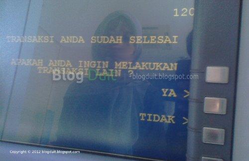 Gambar Konfirmasi Akhir Transaksi ATM BCA