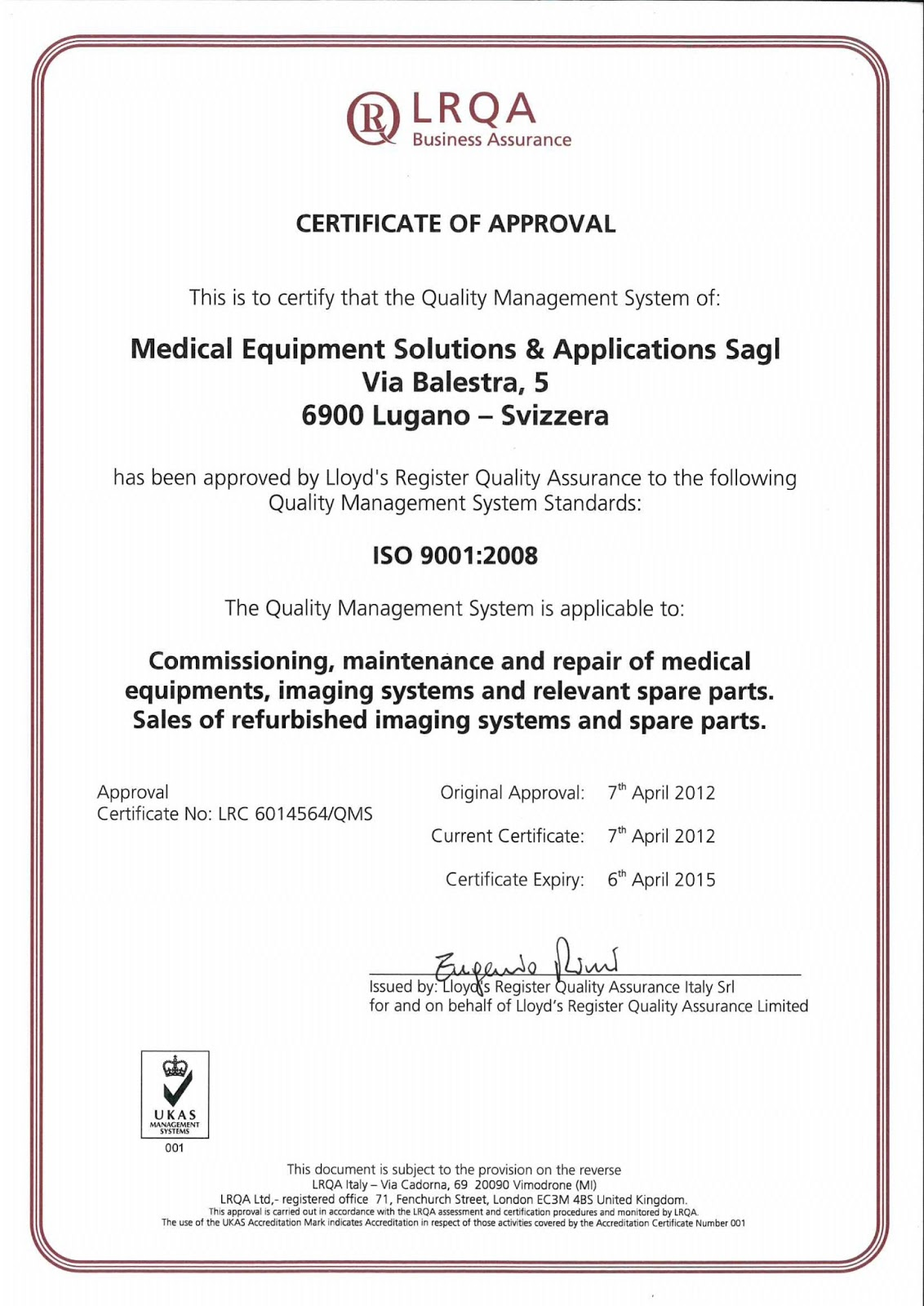 Mesa Adds Iso 9001 Certification To Existing Iso 13485 Medical