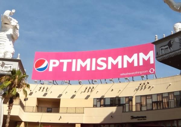 Pepsi Optimismmm billboard Aug09