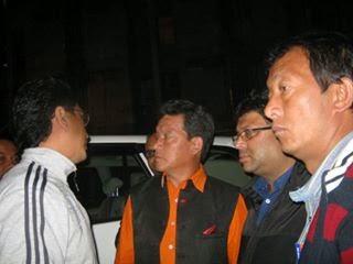 Bimal Gurung,Roshan Giri, Binoy Tamang with Mohan Ghising