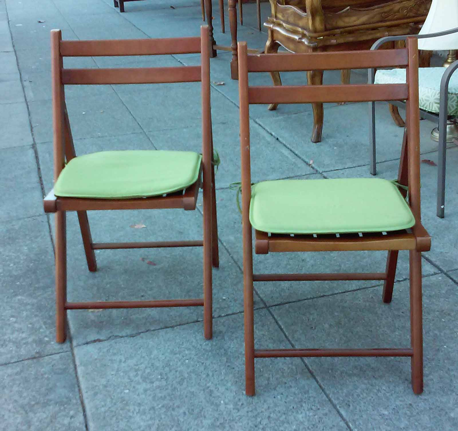 UHURU FURNITURE & COLLECTIBLES SOLD World Market Folding Chairs $15