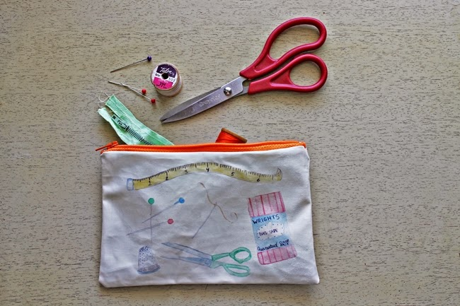 vintage sewing supplies storage bag from wacky tuna on etsy