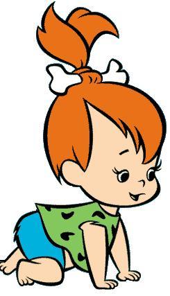 Imagenes de Pebbles Flintstone dibujos animados, comic