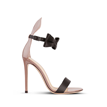 Gianvito Rossi Barely there ankle strap stiletto sandals with bow