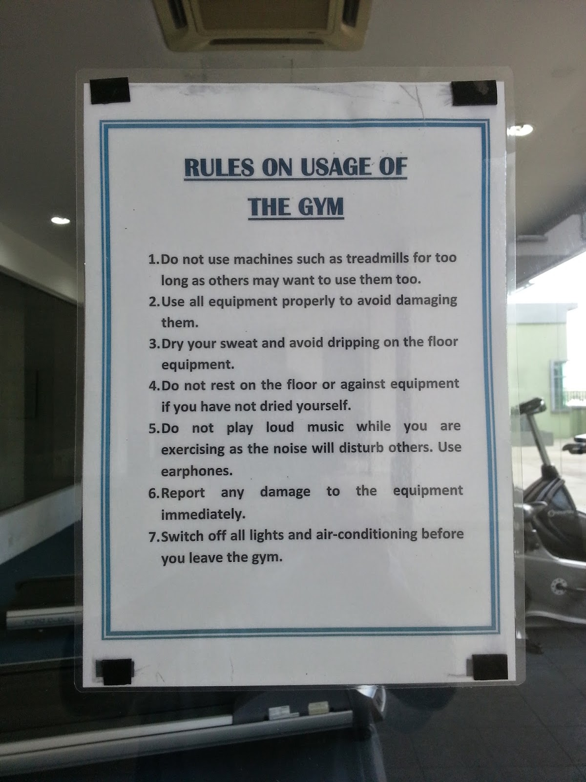 News activities e tiara reminder about our gym