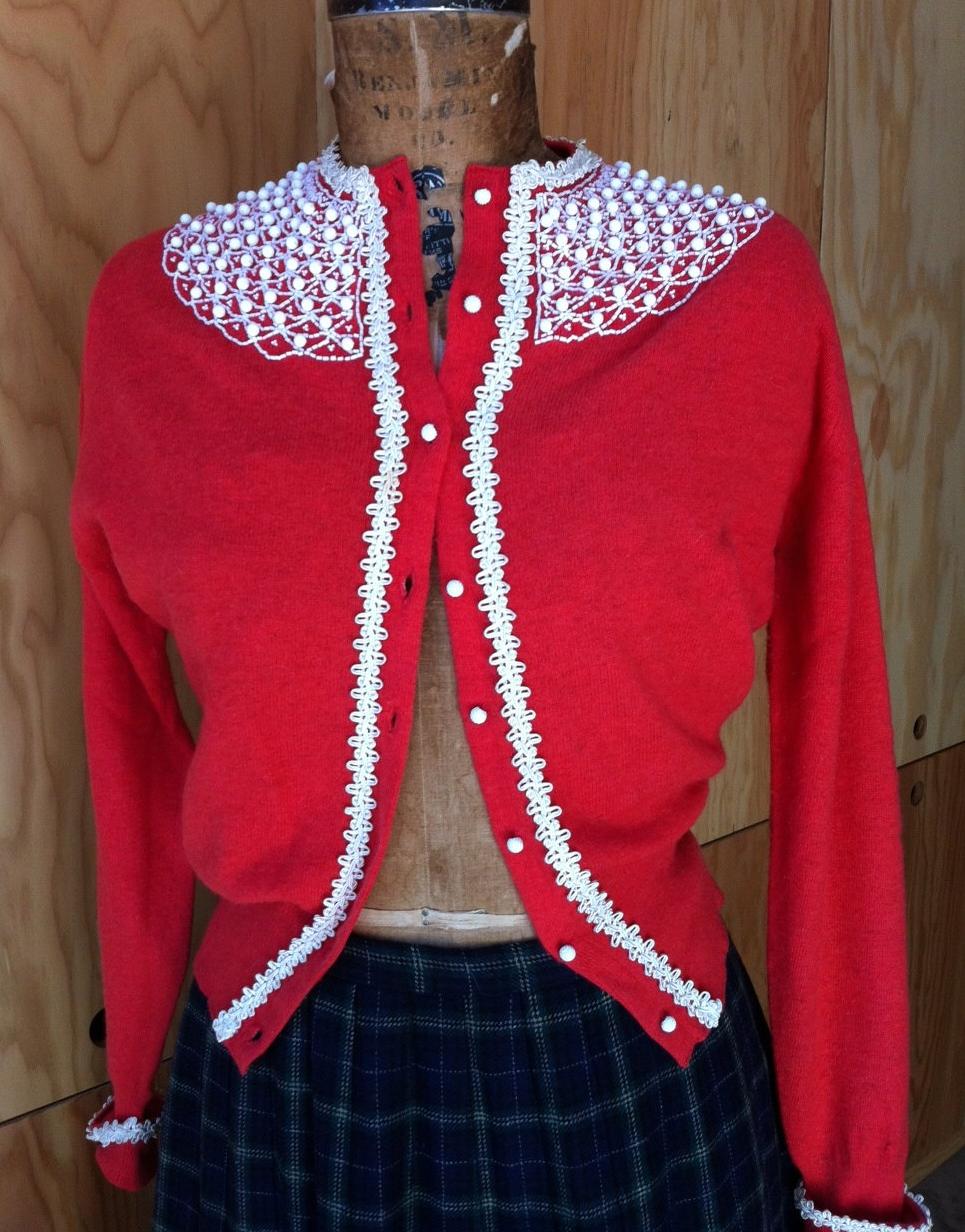 beaded vintage cardigan #vintage #cardigan