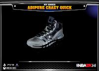 NBA 2K14 Adidas Adipure Crazy Quick