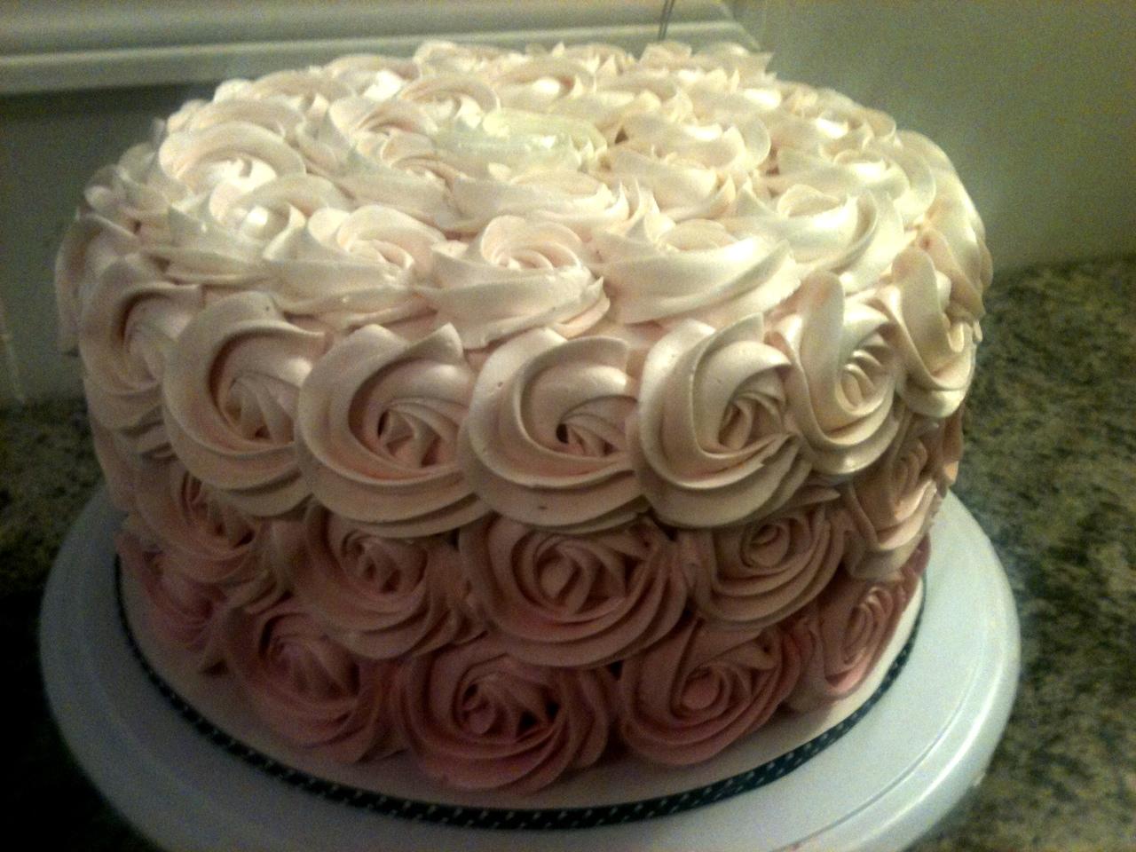 Cake With Roses Buttercream : Sweet Treats by Jen: Buttercream Rose Cake