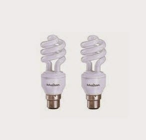 Khaitan 20W Spiral CFL Combo of 2 and Rs. 5 cashback at Rs. 241 – Shopclues