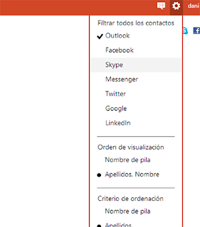 filtros de contactos en Outlook