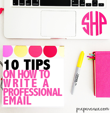 Tips for writing a professional email prep avenue