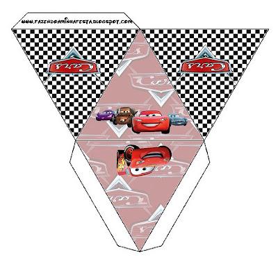 Cajita pirámide imprimible gratis de Cars