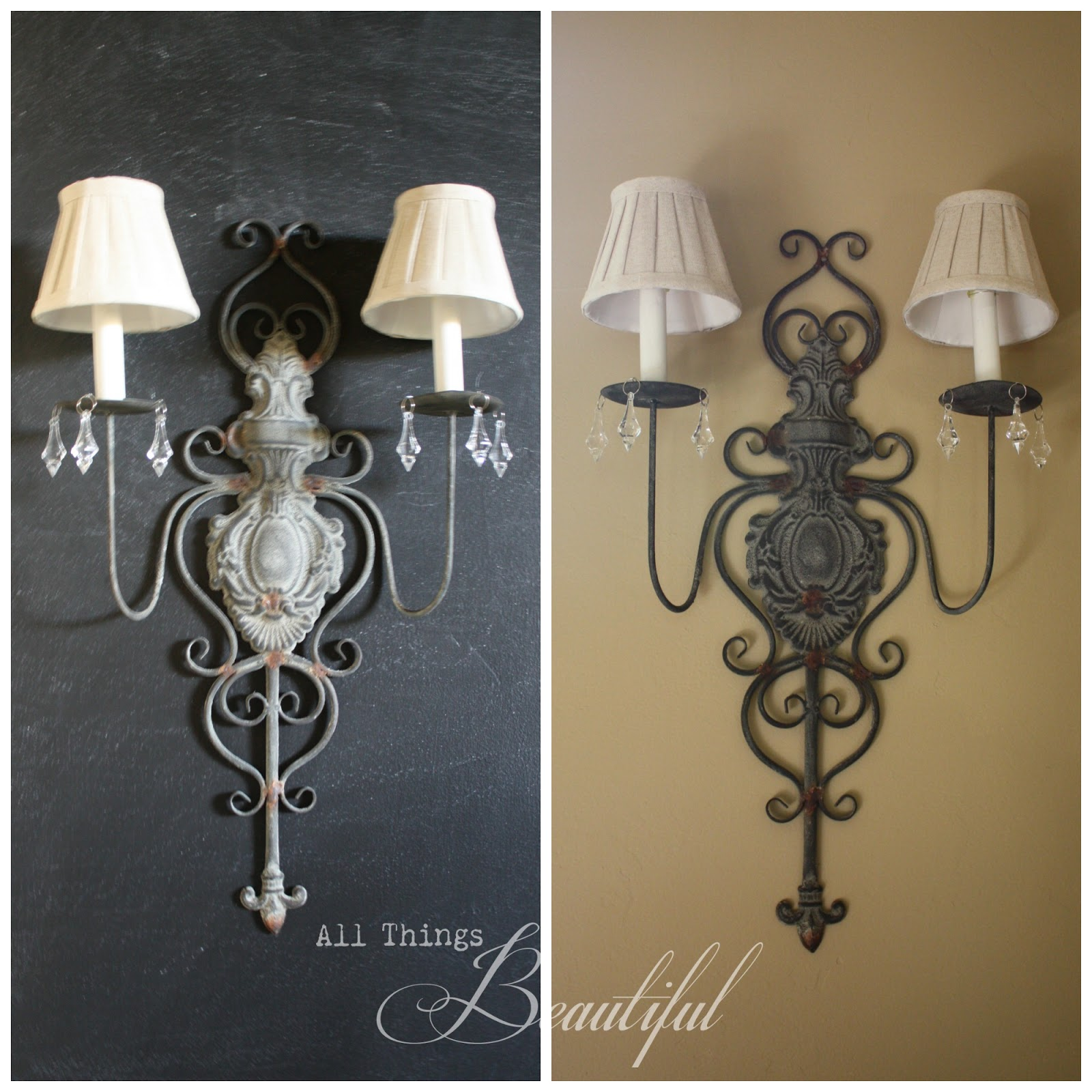 Diy Wall Sconces For Candles : All Things Beautiful: Embellish {Candle Sconce} DIY