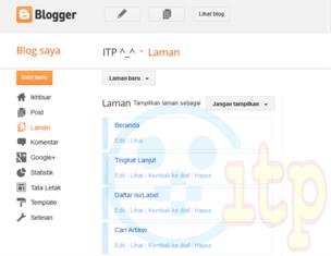 Membuat Halaman Statis (Static Page) Pada Blog