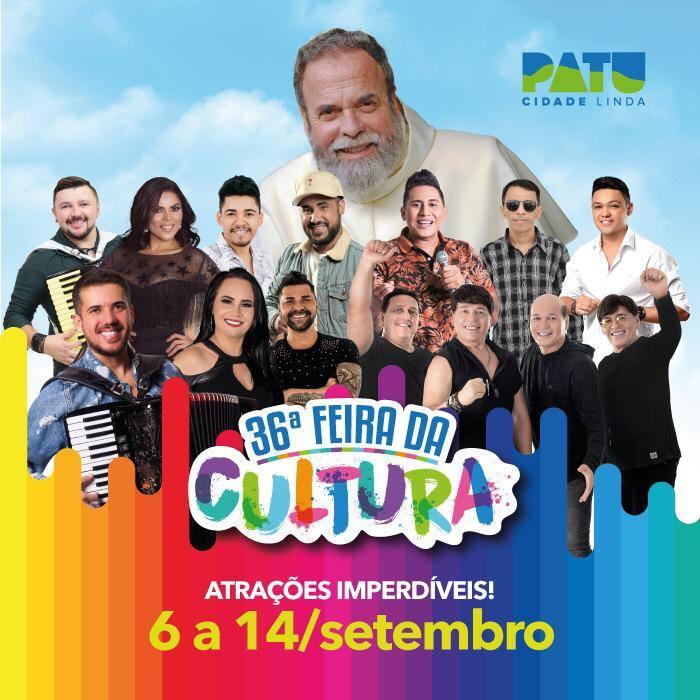 Confira as atrações da 36ª Feira da Cultura de Patu