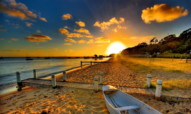 beautiful sunset beach wallpapers