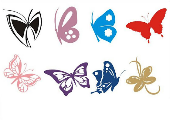 Шаблоны трафареты бабочки часть 2