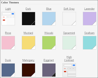 New Gmail Color Themes