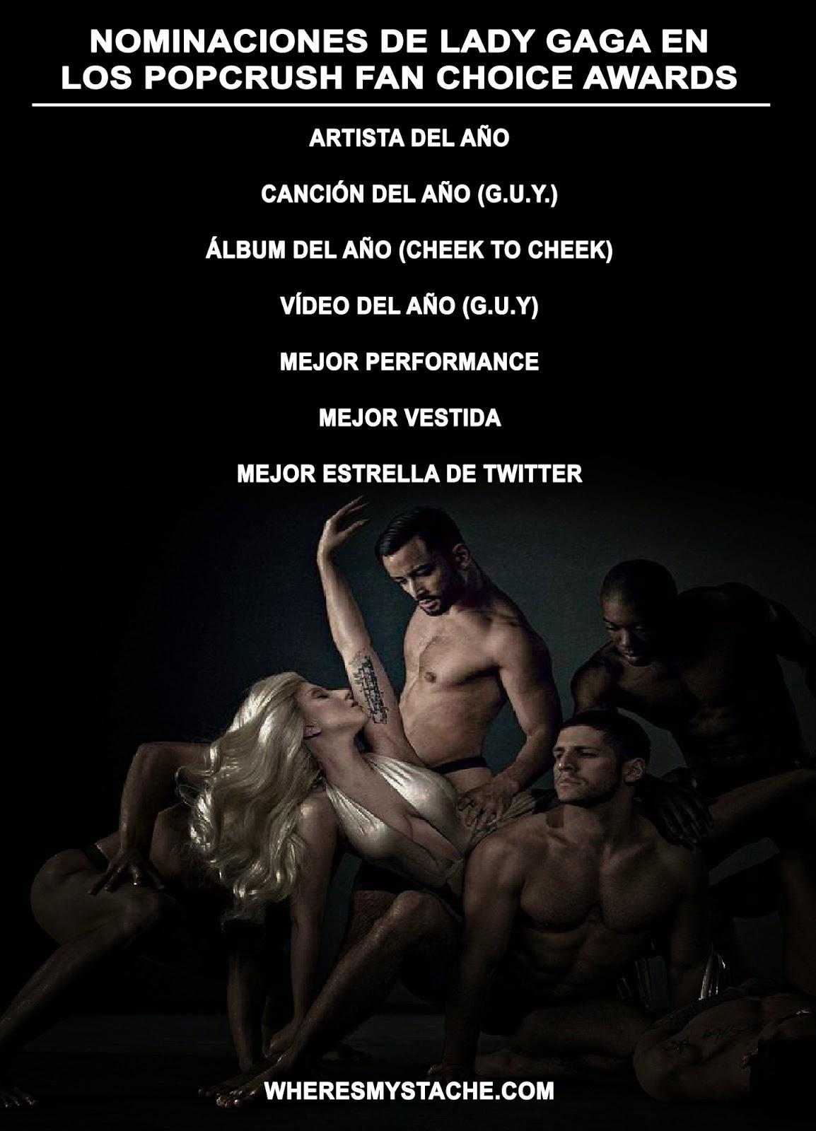 Categorías a las que ha sido nominada Lady Gaga