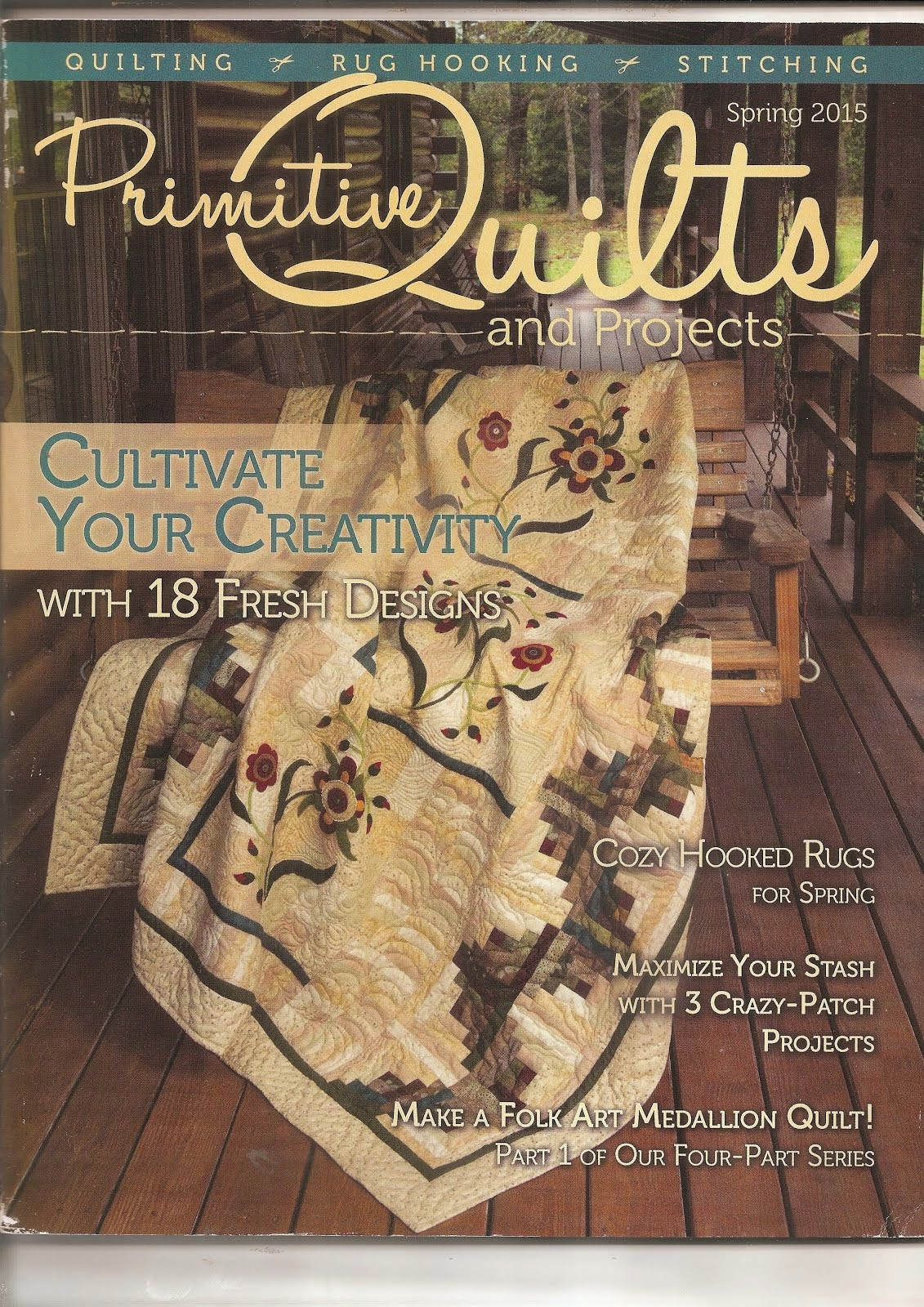 Primitive Quilts & Projects - Spring 2015 Issue