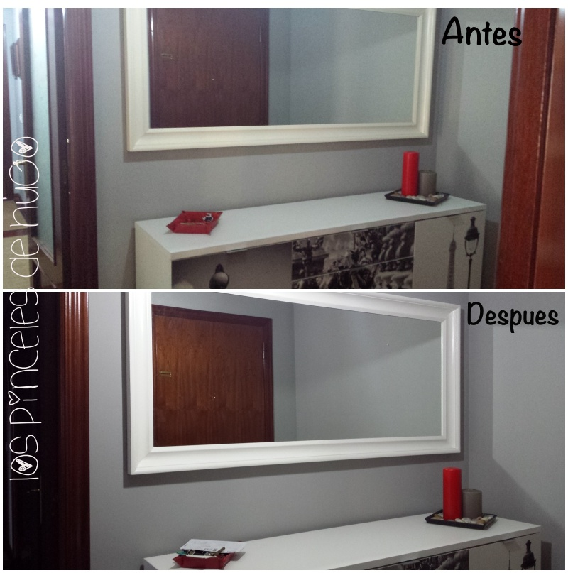 Los pinceles de hugo espejo renovado con la pintura chalky - Pintura para espejos ...