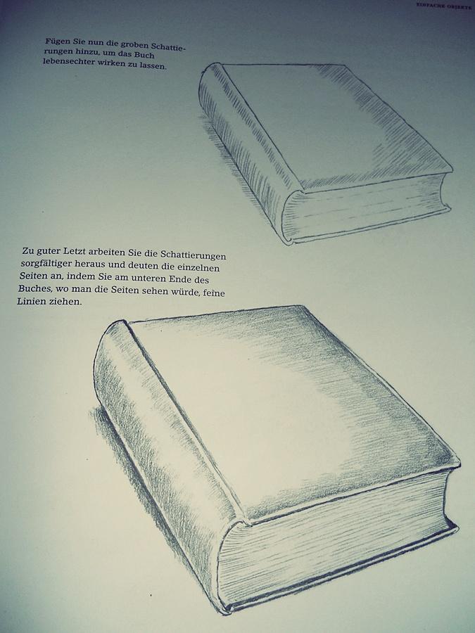 buch zeichnen lernen zeichnen lernen mit bleistift selbst. Black Bedroom Furniture Sets. Home Design Ideas