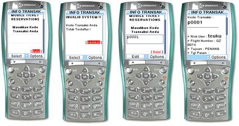 Desain Tampilan menu info transaksi