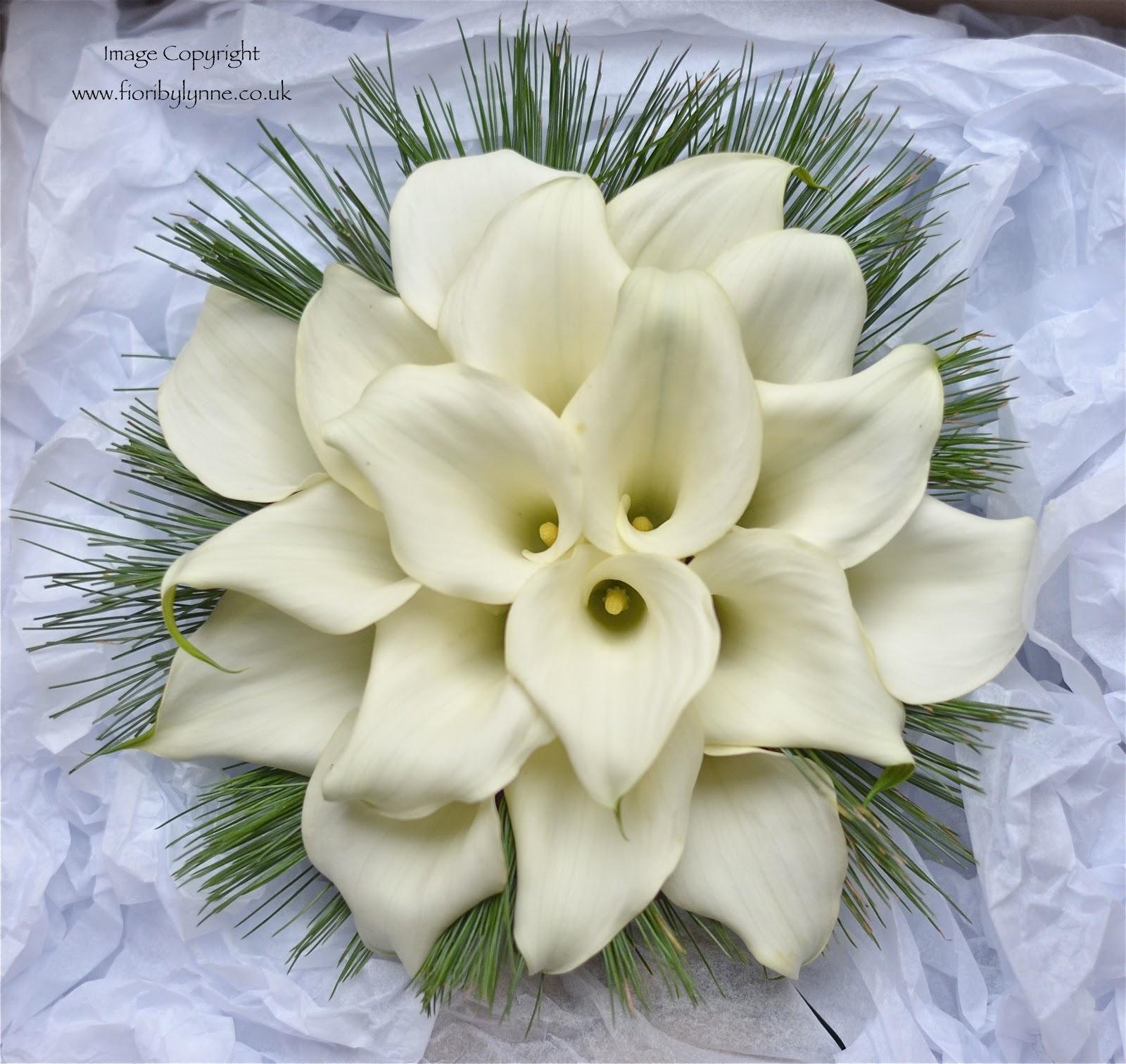 Wedding Flowers Blog Janes Christmas Wedding Flowers Calla Lilies