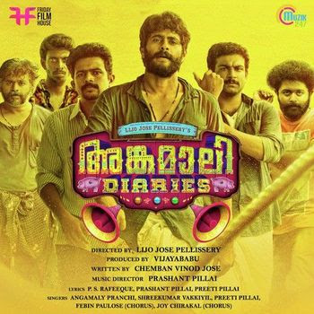 Poster Of Angamaly Diaries In Dual Audio Hindi Malayalam 300MB Compressed Small Size Pc Movie Free Download Only At worldfree4u.com