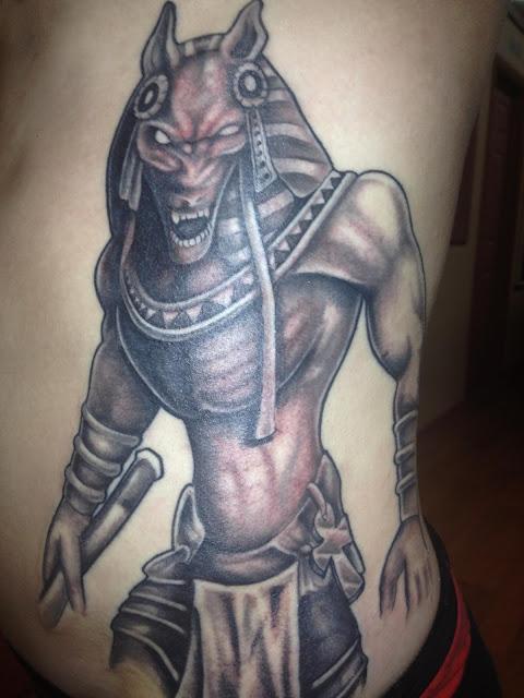 Yonkers Ink Tony Tatts: Anubis - Egyptian God - Tatto